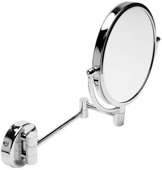 Alfi brand Round Wall Mounted 5x Magnify Cosmetic Mirror Bedding