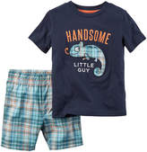 Carter's Graphic Tee and Shorts Set - Baby Boys newborn-24m