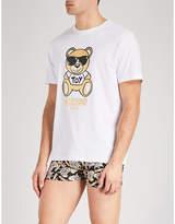 Moschino Metallic Bear Cotton-jersey T-shirt
