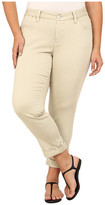 Jag Jeans Plus Size Erin Cuffed Ankle in Khaki