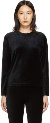 Comme des Garcons Black Velour Long Sleeve T-Shirt