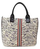 Pinko Women's Beige Fabric Handbag.