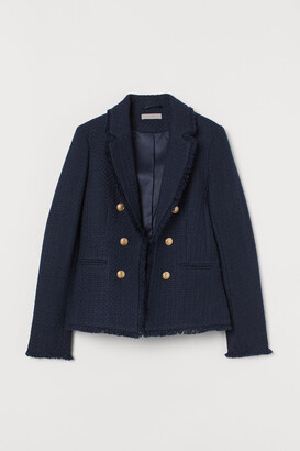 H&M Textured wool-blend jacket