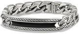 David Yurman Maritime Men's Curb-Link ID Bracelet, Black Onyx