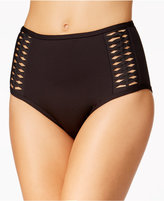 Kenneth Cole Weave Your Way Macramé High-Waist Bikini Bottoms