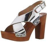 Refresh Women's 63558 Plateau Sandals silver Size: