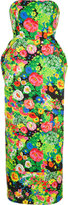 Rosie Assoulin floral print strapless dress