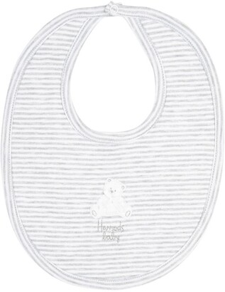 Harrods Striped Teddy Bib