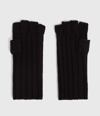 AllSaints Ribbed Cut Off Finger Gloves