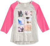 Roxy Graphic-Print 3/4 Sleeve T-Shirt, Little Girls (2-6X)