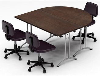 Meeting Seminar 2 Piece Half-Round Meeting Table Set Set Team Tables Top Finish: Java