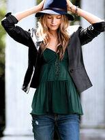 Victoria's Secret Leather Tuxedo Blazer