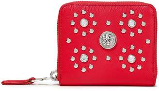 Versace Studded Textured-leather Wallet