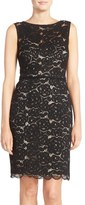 Ellen Tracy Lace Sheath Dress