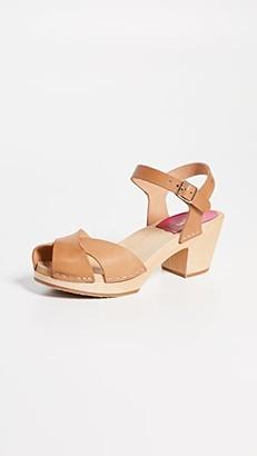 Swedish Hasbeens Mirja Ankle Strap Clogs