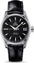 Omega Aqua Terra O23113392101001 Men's Stainless Steel and Black Leather Watch