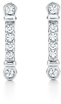 Tiffany & Co. Fleur de Lis key bar earrings in platinum with diamonds