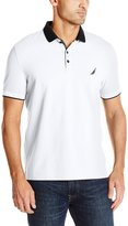 Nautica Men's Slim Fit Layered Collar Polo Shirt