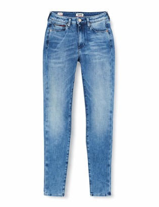 Tommy Jeans Women's Sylvia Hr Super Skinny Dyamd Straight Jeans
