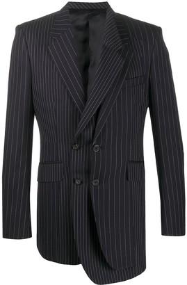 Alexander McQueen Pinstripe Asymmetric Blazer