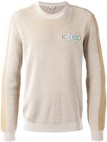 Kenzo ribbed logo sweater - men - Cotton - S