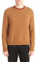 Givenchy Men's Stripe Collar Wool Sweater