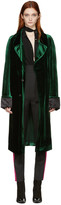 Haider Ackermann Green Velvet Long Coat
