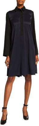 Nina Ricci Oversized Long-Sleeve Draped Dress