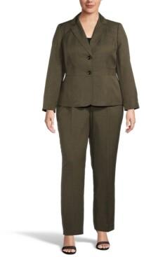 Le Suit Plus Size Two-Button Pant Suit
