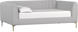 Pottery Barn Teen Avalon Channel Stitch Upholstered Daybed