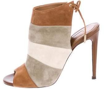 Aquazzura Suede Stripe Sandals