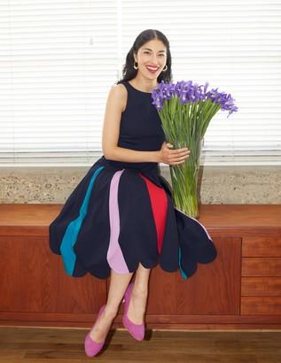Allegra Ponte Pleated Dress