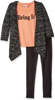 Limited Too Big Girls' 3 Piece Set Cardigan, T-Shirt, and Legging Pant