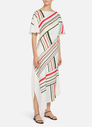 St. John Multiple Stripe Print Dress