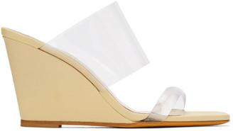 Maryam Nassir Zadeh Yellow Olympia Wedge Sandals