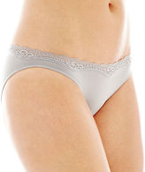 JCPenney Ambrielle Everyday Lace-Trim Seamless Bikini Panties