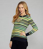 BCBGMAXAZRIA Neon Mix-Stripe Sweater