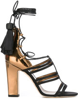 Jimmy Choo Diamond 100 sandals - women - Silk/Leather/Patent Leather - 36