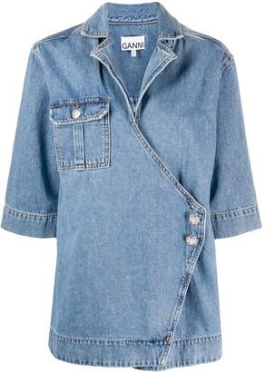 Ganni Wrap-Style Jacket