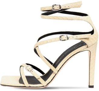 Giuseppe Zanotti 105mm Python Print Leather Sandals