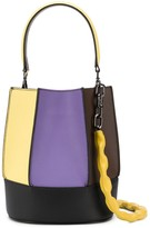 Loeuvre panelled colour-blocked bucket bag