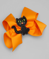 Beary Basics Orange Black Cat Clip