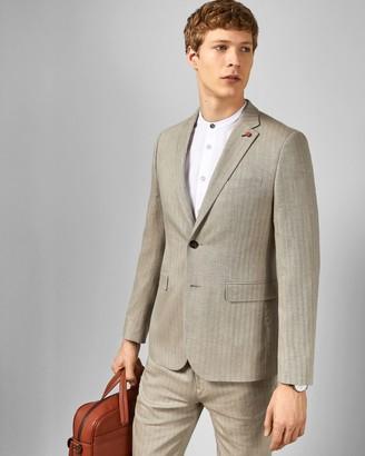 Ted Baker Linen Blend Herringbone Jacket