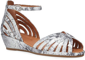Gentle Souls Leah Metallic Demi-Wedge Comfort Sandals