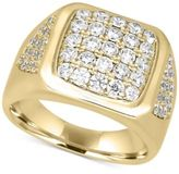 Macy's Men's Diamond Cluster Ring (1-1/2 ct. t.w.) in 10k Gold