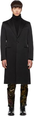 Givenchy Black Single-Breasted Long Coat