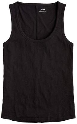 J.Crew Vintage Cotton Tank Top (Black) Women's Clothing
