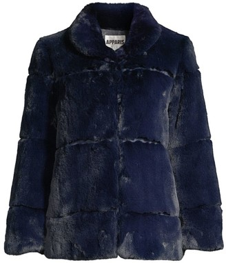 Apparis Sarah Plush Faux Fur Coat