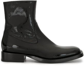 Ann Demeulemeester Vernice Crinkle ankle boots