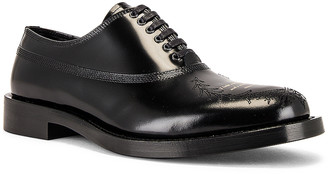 Undercover Lace Up Buck Shoe in Black | FWRD
